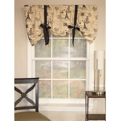 RL Fisher French Stamp Tie-Up Window Valance