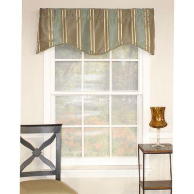 Blue Striped Window Treatments
