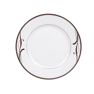 Brown White Salad Plate