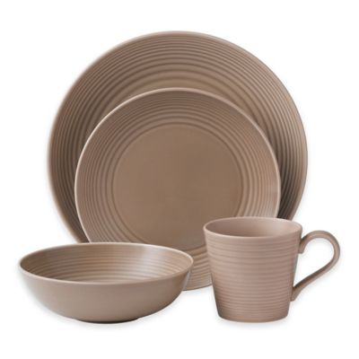 Gordon Ramsay by Royal Doulton® Maze 4-Piece Place Setting in Taupe