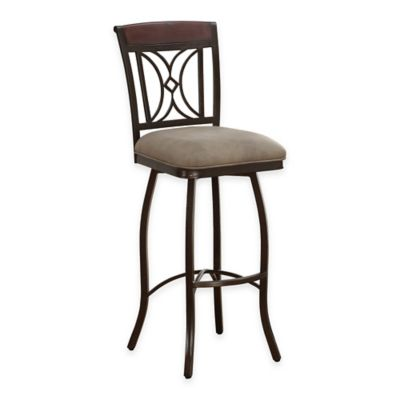 American Heritage Eden Swivel Bar Stool in Light Brown