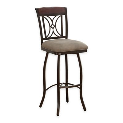 American Heritage Eden Extra-Tall Swivel Bar Stool in Light Brown