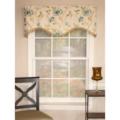 RL Fisher Bonita Cornice Window Valance in Oyster