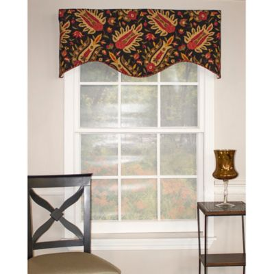 RL Fisher Zolane Cornice Window Valance in Raven