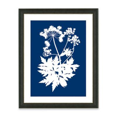 Framed Giclee Blue Nature Silhouette Print Wall Art II