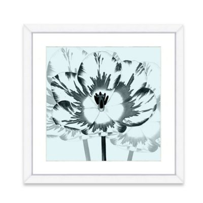 Framed Giclee Blue Flower Crop Print Wall Art I