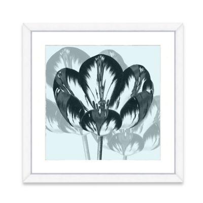 Framed Giclee Blue Flower Crop Wall Art II
