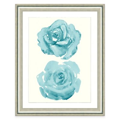 Framed Giclee Watercolor Rose Print Wall Art II