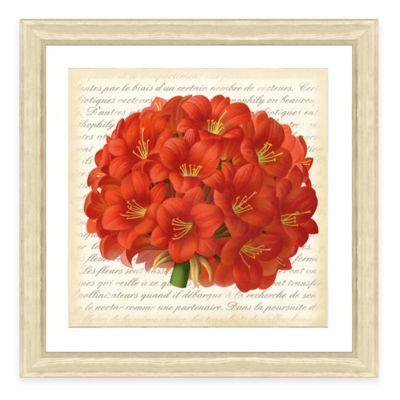 Framed Giclee Red Bouquet Botanical Print Wall Art III