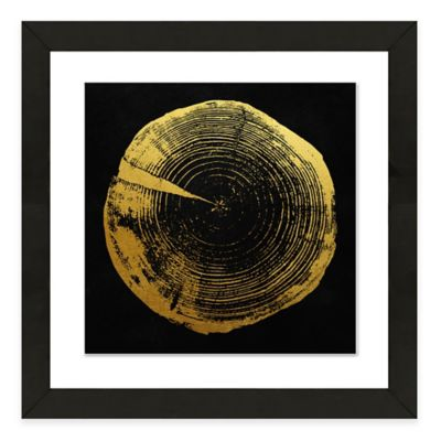 Framed Giclee Tree Ring Print Wall Art I