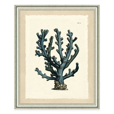 Blue Coral Print I Giclée Framed Wall Art