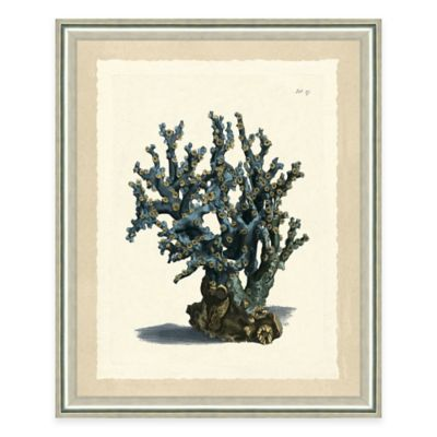 Blue Coral Print II Giclée Framed Wall Art