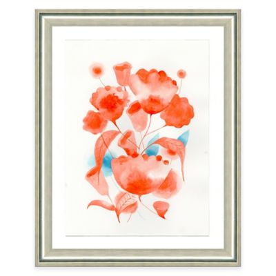 Flowers Red Wall Decor