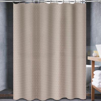 72 Black Brown Fabric Shower