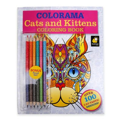 Colorama™ Cats and Kittens Coloring Book with Colored Pencils