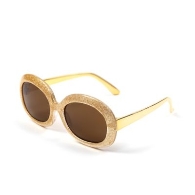 On The Verge Kids' Round Sunglasses in Gold Shimmer
