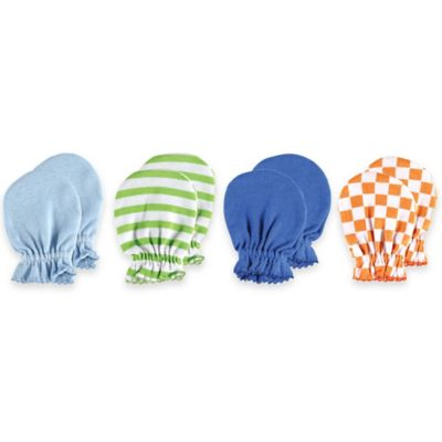 Baby Vision® Luvable Friends 4-Pack Size 0-6M No Scratch Mittens in Blue