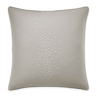 Jeffrey Alan Marks for Inspired By Kravet Chromis Embroidered Dot Square Throw Pillow in Grey