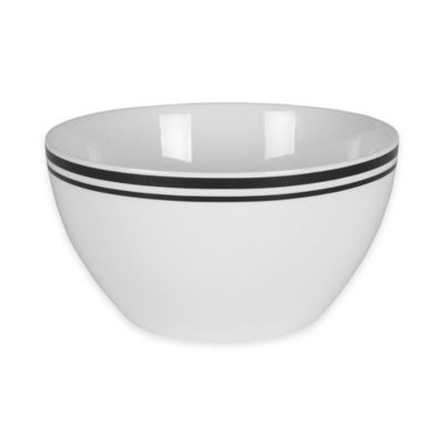 Everyday White® Bistro Black Deep Vegetable Bowl