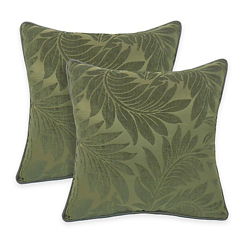 Jacquard Throw Pillows : Buy Arlee Home Fashions Alessandra Chenille Jacquard Leaves Throw Pillow (Set of 2) from Bed ...
