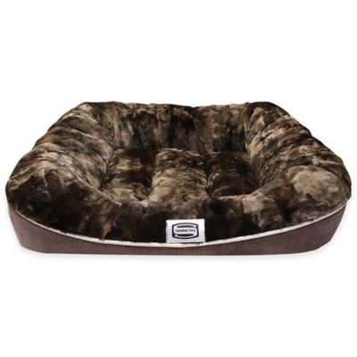 Beautyrest® Absolute Rest Large Plush Dog Bed in Chocolate