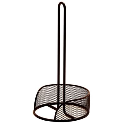 Seville Classics Metal Mesh Paper Towel Holder in Bronze