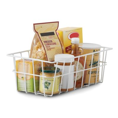 SALT Steel Pantry Storage Basket in White