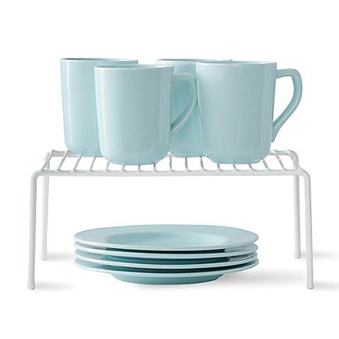 salt cabinet shelf in white bed bath beyond. Black Bedroom Furniture Sets. Home Design Ideas