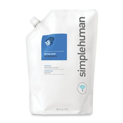 simplehuman® Moisturizing Liquid Hand Soap 34 oz. Refill Pouch in Spring Water