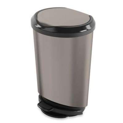 40-Liter Step-On Wastebasket in Nickel Finish