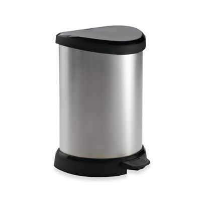 Curver 20-Liter Metallic Trash Can in Silver