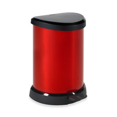 Red Metal Trash Cans