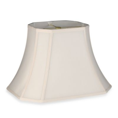 Mix & Match Large 18-Inch Shantung Cut Corner Rectangular Lamp Shade in Cream