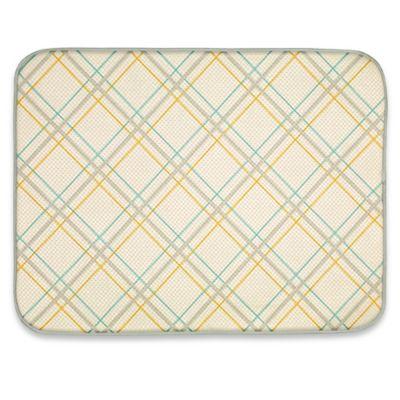 Plaid Dish Drying Mat