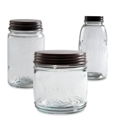 Copper Lid 48 oz. Glass Mason Jar Canister