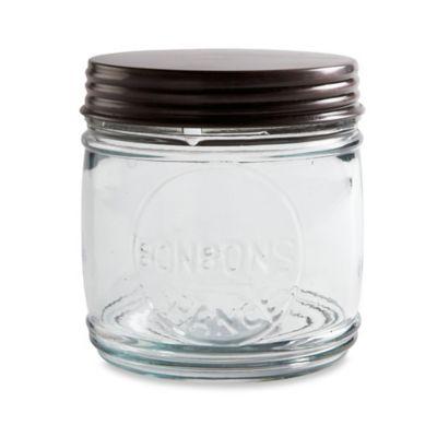 Copper Lid 48 oz. Glass Mason Jar Canister