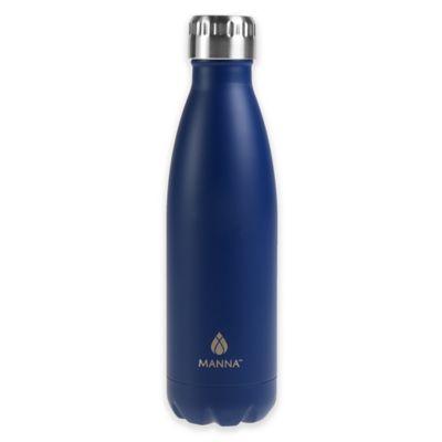 17 oz. Double Wall Matte Stainless Steel Vogue Bottle in Matte Blue