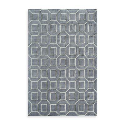 Rugs America Jourdan Tiles 2-Foot x 3-Foot Accent Rug in Grey