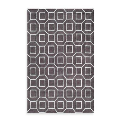 Rugs America Jourdan Tiles 8-Foot x 10-Foot Area Rug in Brown