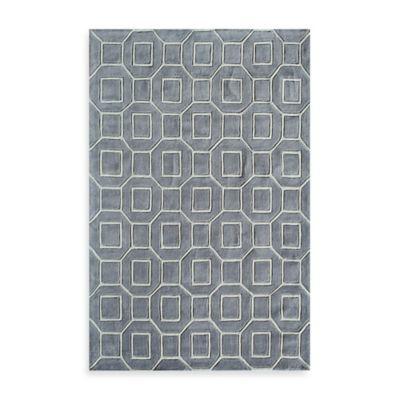 Rugs America Jourdan Tiles 8-Foot x 10-Foot Area Rug in Grey