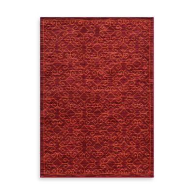 Oriental Weavers Harper Tribal Geometric 3-Foot 3-Inch x 5-Foot 5-Inch Area Rug in Red