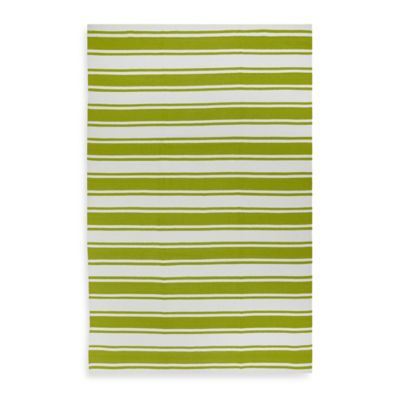 Green & White Outdoor Rugs