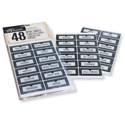 Olde Thompson Spice Labels (Set of 48)