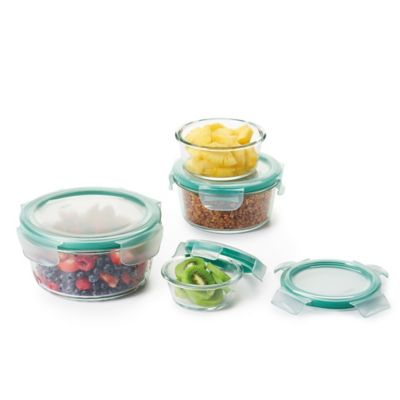 OXO Good Grips® 8-Piece Snap Glass Round Container Set