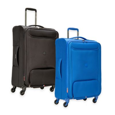 DELSEY Chatillon 25-Inch Expandable 4-Wheel Spinner Suitcase in Blue