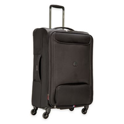 DELSEY Chatillon 25-Inch Expandable 4-Wheel Spinner Suitcase in Black