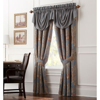 Waterford® Linens Dunham Swag Valance in Glacier