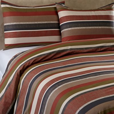 Malibu Reversible Twin Duvet Cover Set in Brown