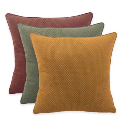 Arlee Home Fashions® Convex Textured Woven Square Throw Pillow in Olive (Set of 2)