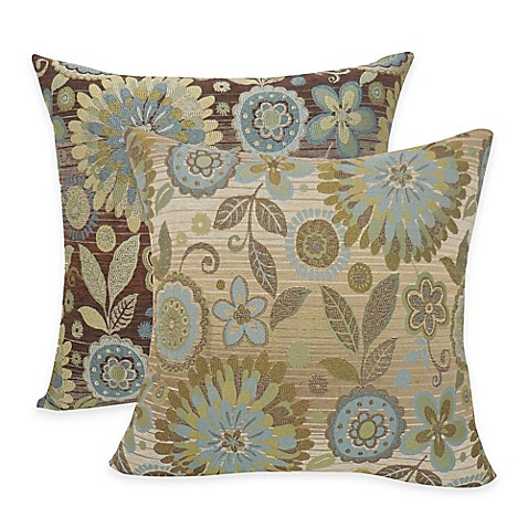 Arlee Home Fashions Rosita Woven Jacquard Square Throw Pillow (Set of 2) - Bed Bath & Beyond